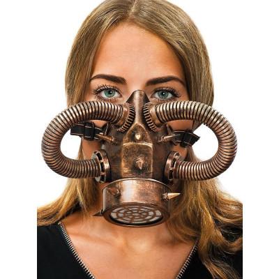 Steampunk copper gas mask