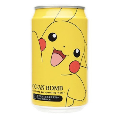 Ocean Bomb Pikachu Pokemon Cider Flavor 330ml can