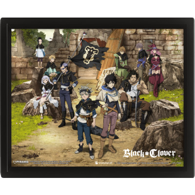 Black Clover Ruins 26 x 20 cm 3D Framed Picture