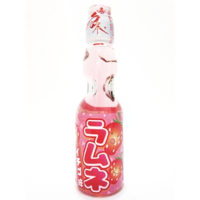 Japanese lemonade Ramune 200ml bottle strawberry flavor
