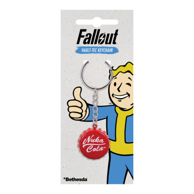 Fallout Nuka Cola bottle cap keychain