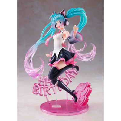 PREORDER - Vocaloid - Hatsune Miku - Birthday 2021 Happy Cat ver. - AMP - 23cm PVC Statue