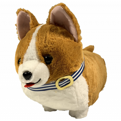 Amufun Corgi Big dark brown 48cm plush