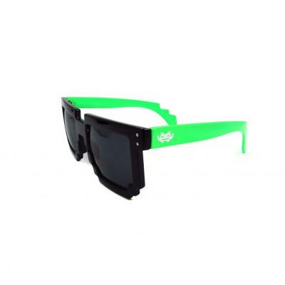 8 - BIT black/green Pixel Sunglasses