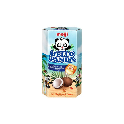 Meiji Hello Panda Schoko Biscuits mit Coconut-Füllung 50g