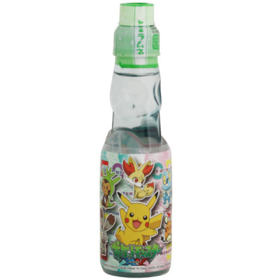 Japanese Lemonade Ramune 200ml bottle Kimura Pokemon flavor