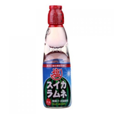 Japanese Lemonade Ramune 200ml bottle watermelon flavor