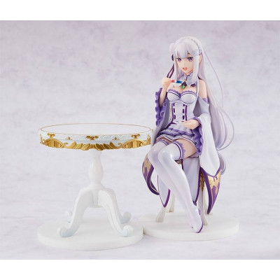 PREORDER ♦ Re:Zero -Starting Life in Another World- PVC Statue 1/7 Emilia [Tea Party Ver.] 20 cm figure