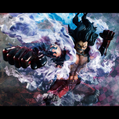 SB ♦ One Piece Excellent Model P.O.P PVC Statue 1/8 SA-Maximum Monkey D. Ruffy Gear 4 Snake Man 26 cm figure