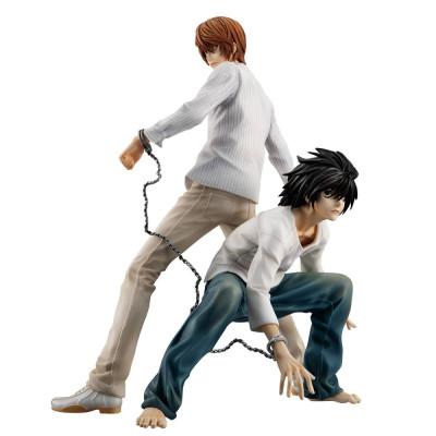COLLECTOR ♦ Death Note G.E.M. PVC Statue Yagami Light & L 24 cm figure