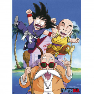 Dragon Ball - Kame Team - 52x38 Chibi-Poster