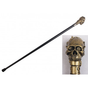 Golden Skull 90cm walking stick