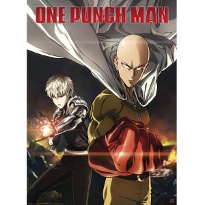 One Punch Man - Saitama & Genos - 52x38 Chibi-Poster