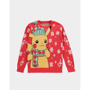 Pokémon - Pikachu - Knitted Christmas Pullover