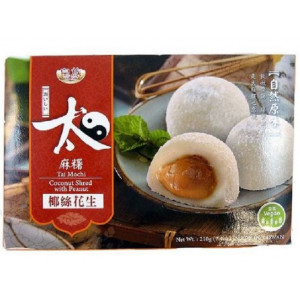 Mochi - sticky rice cake - peanut with grated coconut in gift box 210g