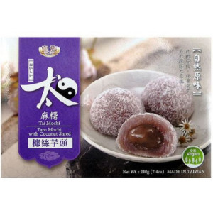 Mochi - sticky rice cake - taro with coconut flakes gift box 210g