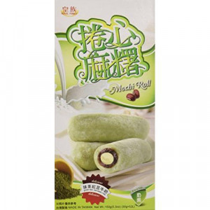Mochi - sticky rice cake roll - red bean and green tea in gift box 150g
