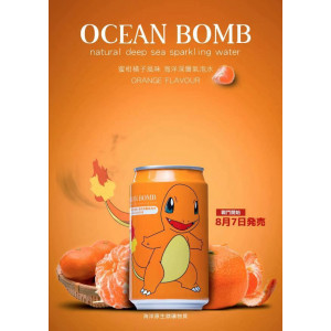 Ocean Bomb Charmander Pokemon Tangerine 330ml can