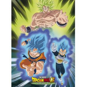 Dragon Ball Super - Broly vs. Goku & Vegeta - 52x38 Chibi-Poster