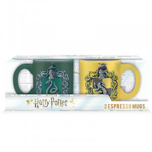 Harry Potter - Slytherin & Hufflepuff - 110ml Espresso Tassen-Set