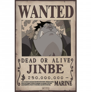 One Piece - Wanted Jinbe - 52x35 Chibi-Poster