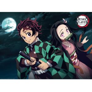 Demon Slayer - Tanjiro und Nezuko - 52x38 Chibi-Poster