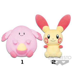 Pokemon - Chansey and Plusle 22 cm Plush