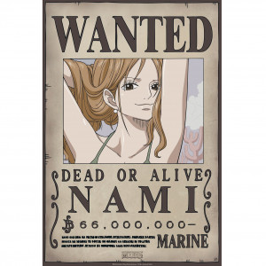 One Piece - Wanted Nami New - 52x35 Chibi-Poster