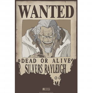 One Piece - Wanted Rayleigh - 52x35 Chibi-Poster