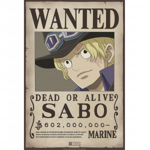 One Piece - Wanted Sabo - 52x35 Chibi-Poster