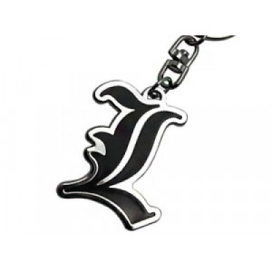 Death Note L Logo Keychain