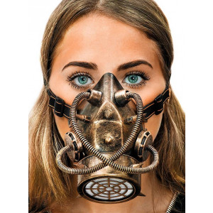 Steampunk bronze gas mask