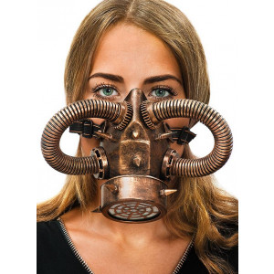 Steampunk copper gas mask