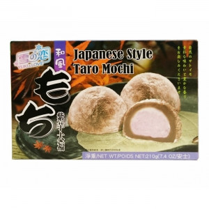 Mochi - sticky rice cake - Taro in gift box 210g - Yuki & Love