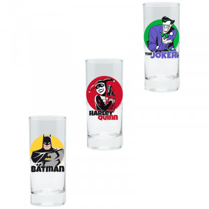 DC - Batman, Joker, Harley Quinn - 290ml Glas Set
