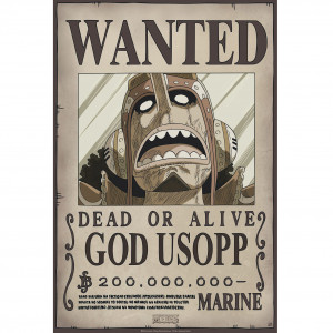 One Piece - Wanted Usopp New - 52x35 Chibi-Poster
