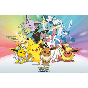 Pokemon Evoli & Pikachu Poster