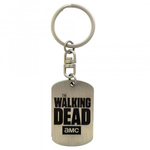 The Walking Dead Logo Dogtag Key Chain