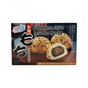 Mochi - sticky rice cake - sesame in gift box 210g - Yuki & Love