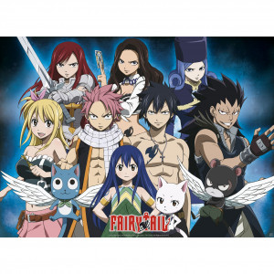 Fairy Tail - Group - 52x38 Chibi-Poster