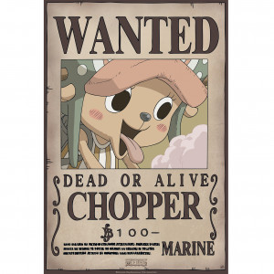 One Piece - Wanted Chopper New - 52x35 Chibi-Poster
