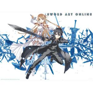 Swort Art Online - Asuna und Kirito 2 - 52x38 Chibi-Poster