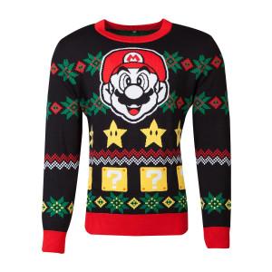 Nintendo - Super Mario - Knitted Christmas Pullover