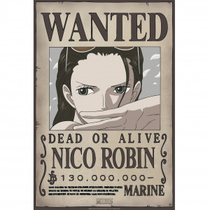One Piece - Wanted Robin New - 52x35 Chibi-Poster