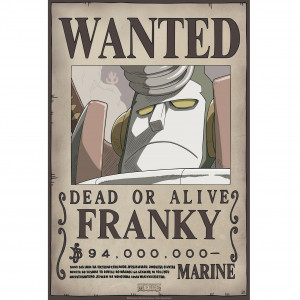One Piece - Wanted Franky New - 52x35 Chibi-Poster
