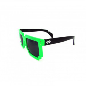 8 - BIT green/black Pixel Sunglasses