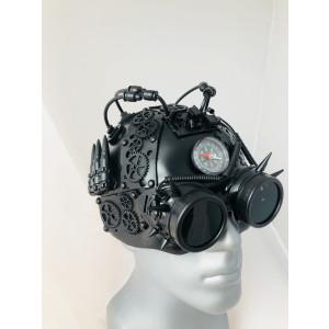 Steampunk helmet black