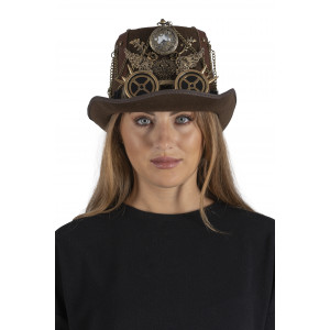 Steampunk hat with pocket watch