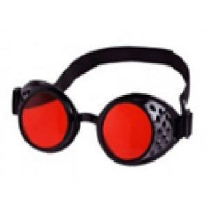 Steampunk glasses red