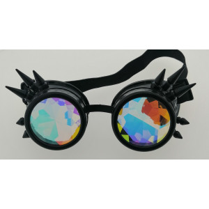 Steampunk kaleidoscope glasses with spikes